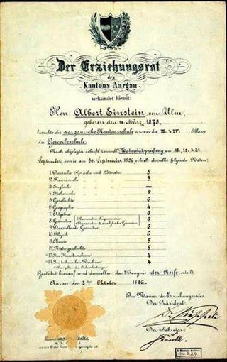 Einstein era um aluno medíocre?