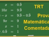 Prova Comentada TRT