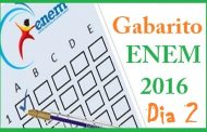 Enem 2016 Gabarito Segundo Dia