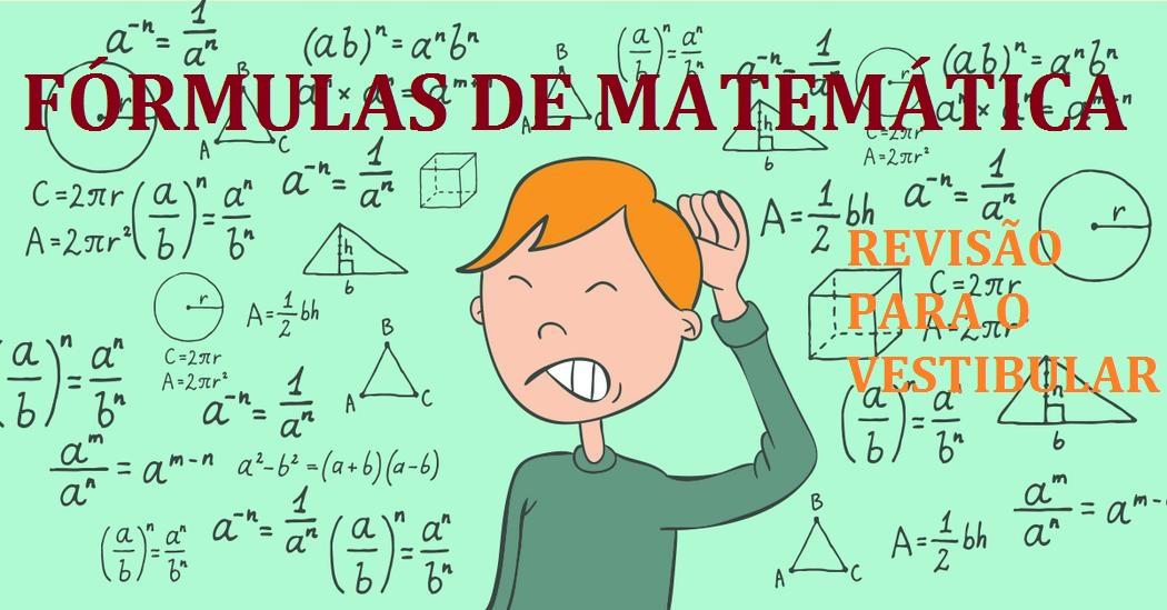 Fórmulas de Matemática - Revisão para o Vestibular