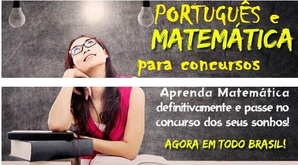 português e matematica para concursos