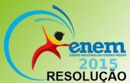 Prova Enem 2015 - Resolução
