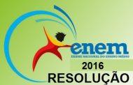 Prova Enem 2016 - Resolução